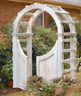 How to make a garden arbor, with free plans!