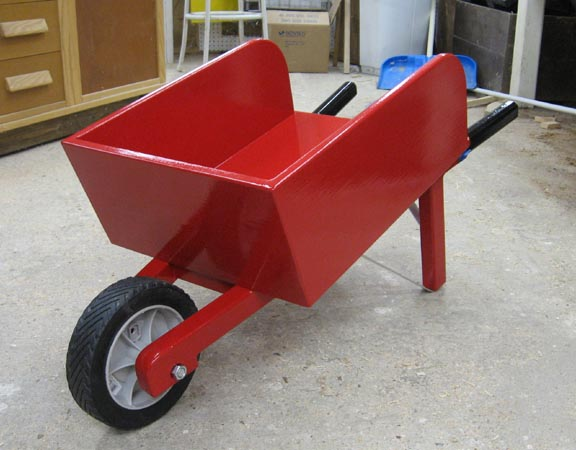 Small Wooden Wheelbarrow Plans