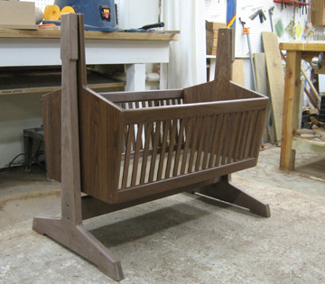wooden cradle plans