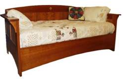 Arts and Crafts Mission Day Bed Woodworking Plan