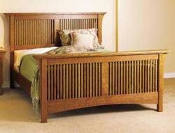 Arts and Crafts Bed Woodworking Plan