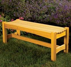 Garden Bench Woodworking Plan