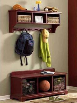 Storage Bench and Wall Shelf Woodworking Plan
