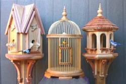 Bird House, Cage and Feeder Woodworking Plan