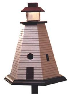 Lighthouse Birdhouse Woodworking Plan