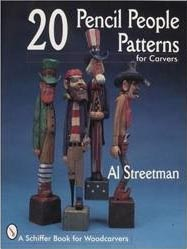 20 Pencil People Patterns for Carvers Book