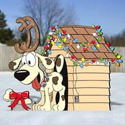 Christmas Doghouse woodworking plan