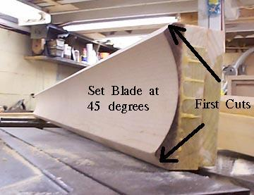 Make Cove Molding on the table saw