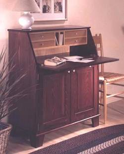 Drop Front Writing Desk Woodworking Plan