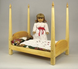 Doll Four Poster Bed Woodworking Plan