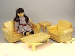 Doll Sofa, Chair, and Tables Woodworking Plan