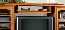 Entertainment Center Bridge and Shelf Woodworking Plan