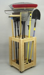 Garden storage woodworking plan