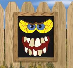 Scary Monster Faces Woodworking Plan