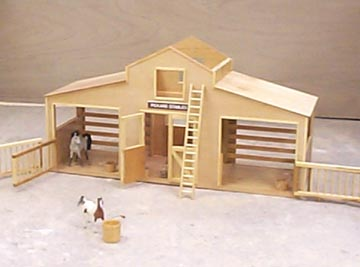 Horse stable woodworking plans