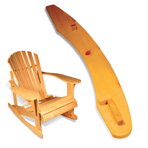 build adirondack rocking chair
