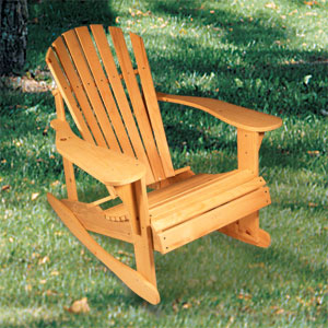 adirondack chair plans rocker