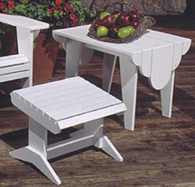 Adirondack footstool and table woodworking plans