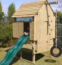How to Build a Kids Treeless Play Fort Woodworking Plan