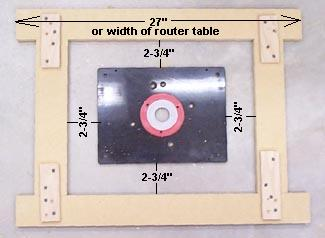 How to install your router in your router table this jig makes the groove that the lip of the router base sits on the center part is cut out later when making your jig greentooth Choice Image