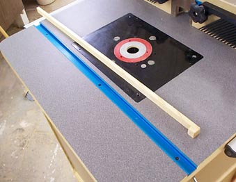 Router table miter slot poker edge search