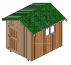 Shed woodworking plan