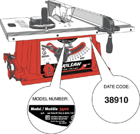 Bink 39 s woodworking tools recalled tool recall for 10 inch skilsaw table saw