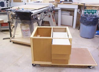 Table saw cabinet from wood magazine for 10 cabinet table saw