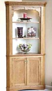 Corner cabinet woodworking plan