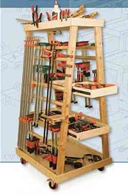 A-Frame Mobile Clamp Rack Classic Shop Woodworking Plan