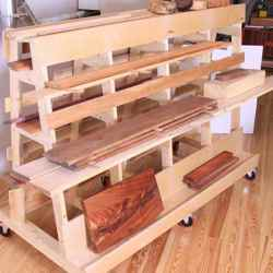 Lumber and Sheet Goods Rack Classic Shop Woodworking Plan