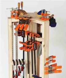 clamp storage, woodworking plans