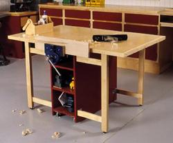 mobile work table plans