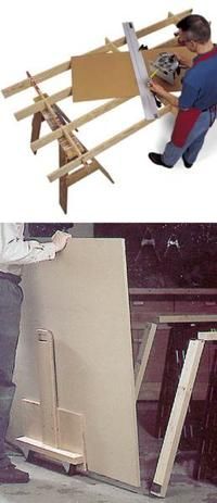 Cutting Platform and Sheet Goods Mover Woodworking Plan