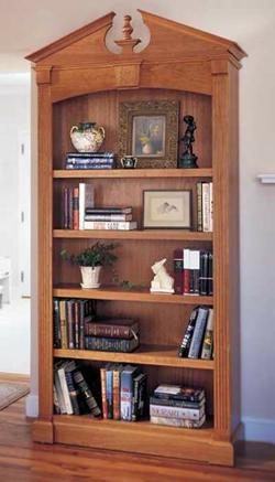 Federal Bookcase Woodworking Plan