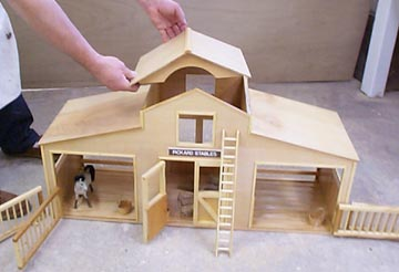 model horse stable