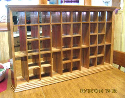 Built This Shot Glass Display Case It